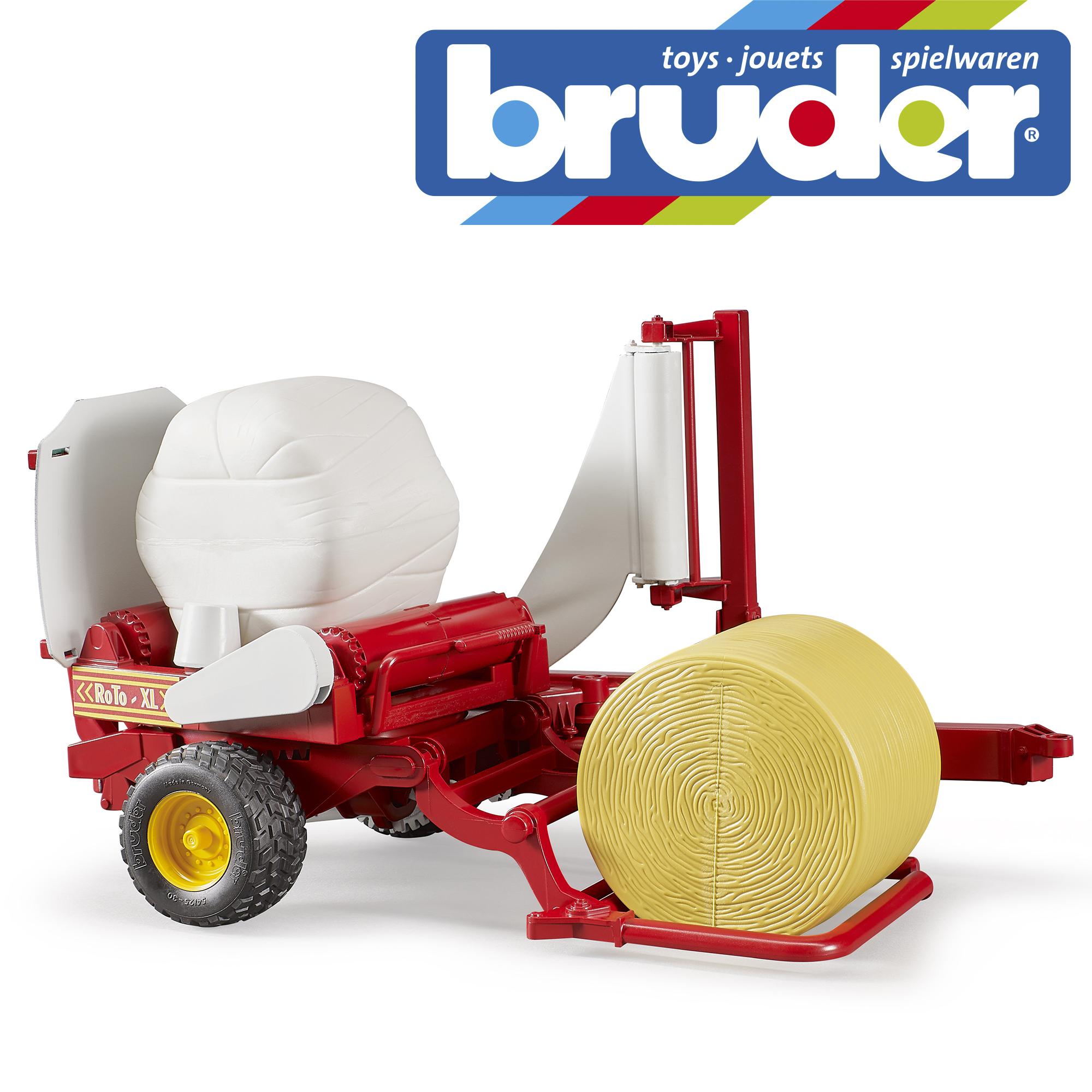 1,16 Bruder jouets 02122 pro series round bailer wrapper 2 Balles Noir Wrap