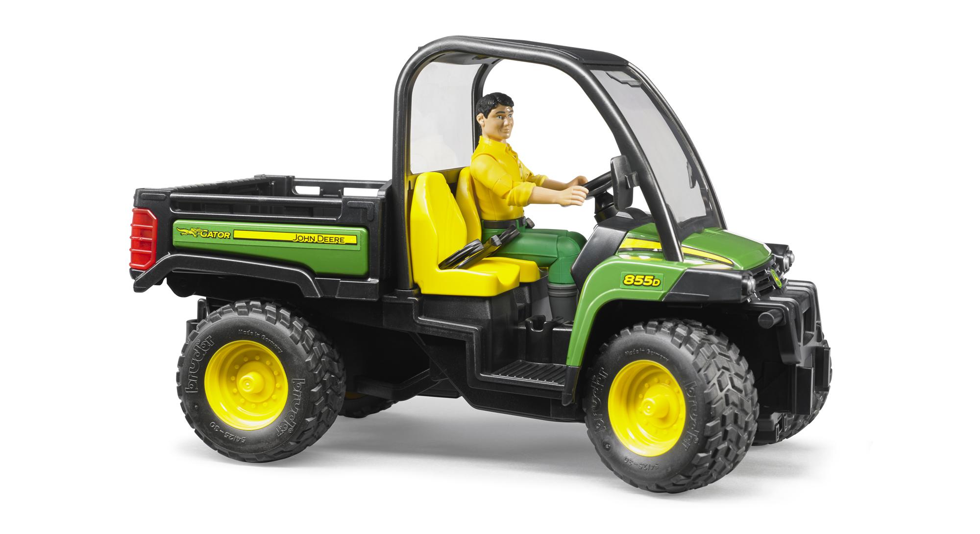 bruder john deere gator 855d  driver farm toy kids