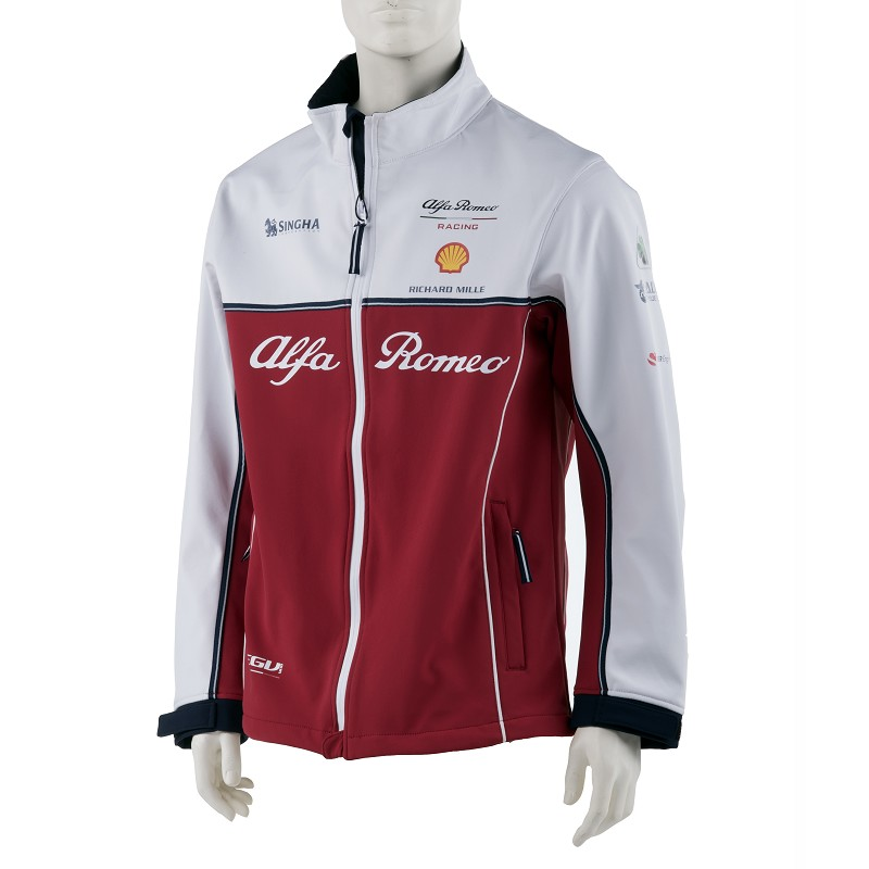 Sale! Alfa Romeo Racing F1 Team Mens Softshell Jacket Coat Formula One Official