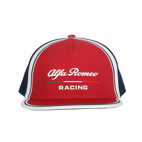 Sale! Alfa Romeo Racing F1 Team Baseball Cap Flat Brim Hat Red Adults One Size