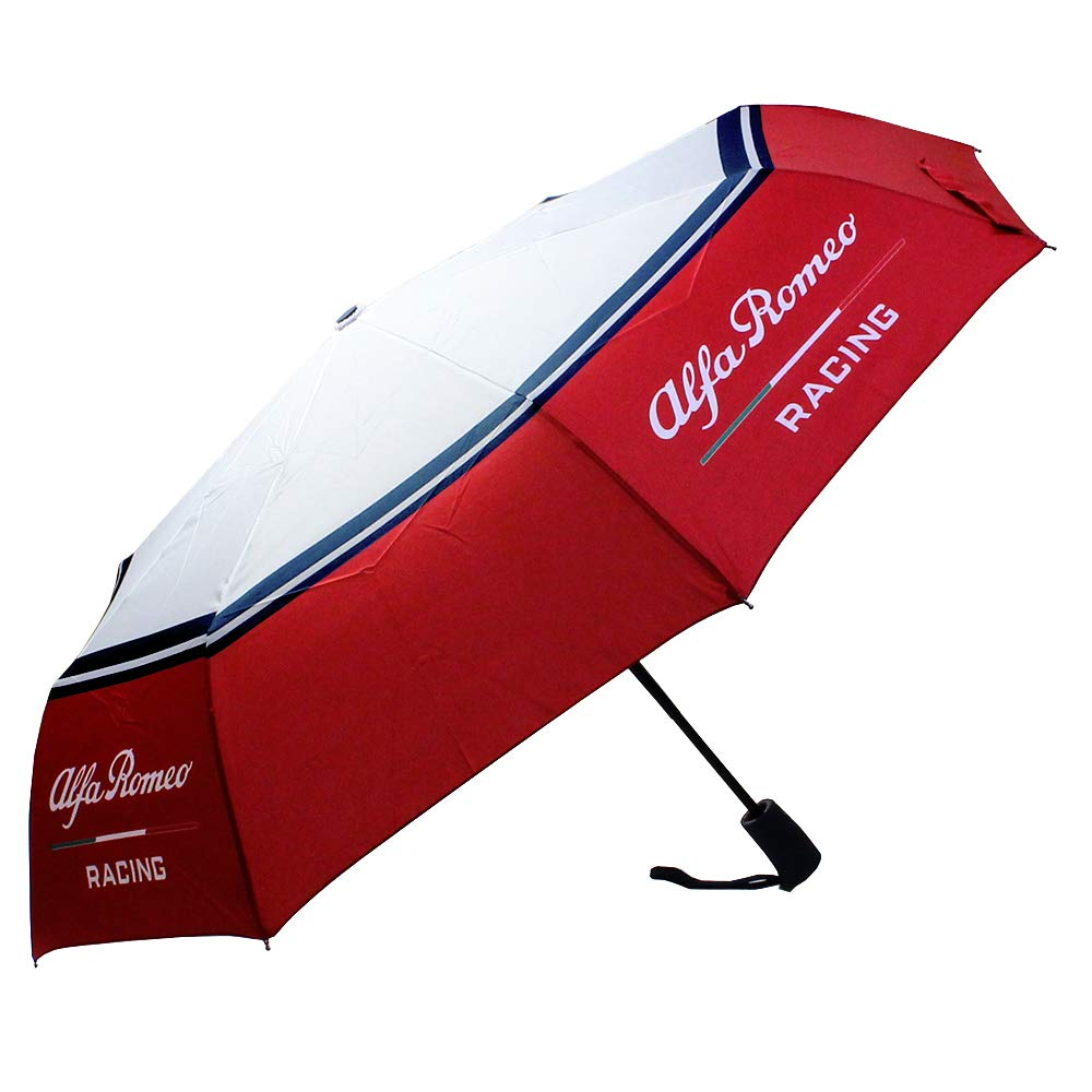 Official Alfa Romeo Racing F1 Team Umbrella Small Compact Mini Size in Red Case