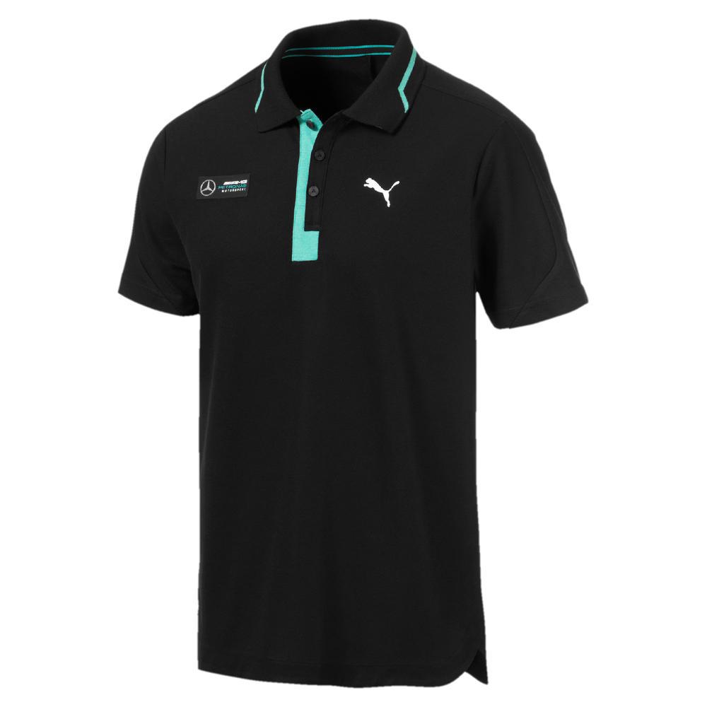 Mercedes AMG Petronas F1 Puma Mens Polo Shirt BLACK Tee Sizes XS-XXL