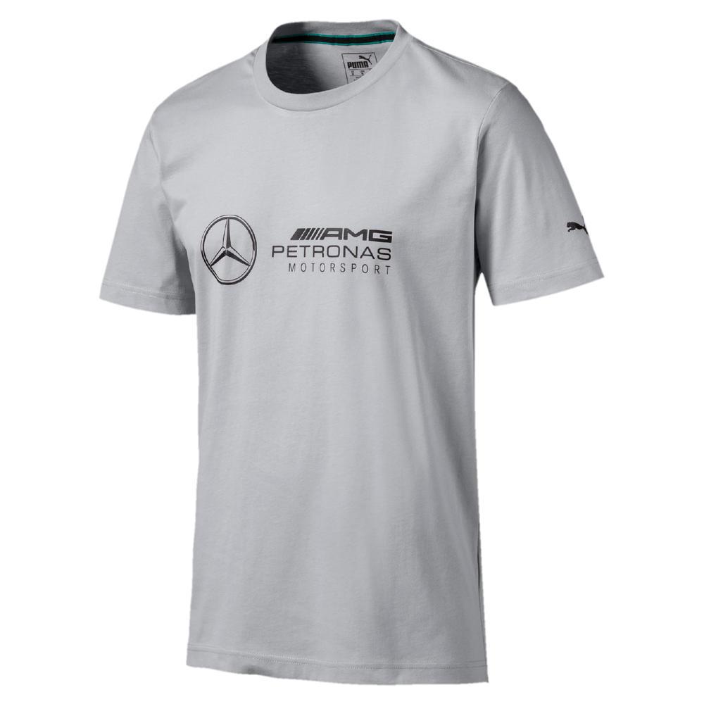 Mercedes AMG Petronas F1 Puma Mens T-Shirt SILVER Tee Formula One Sizes XS-XXL