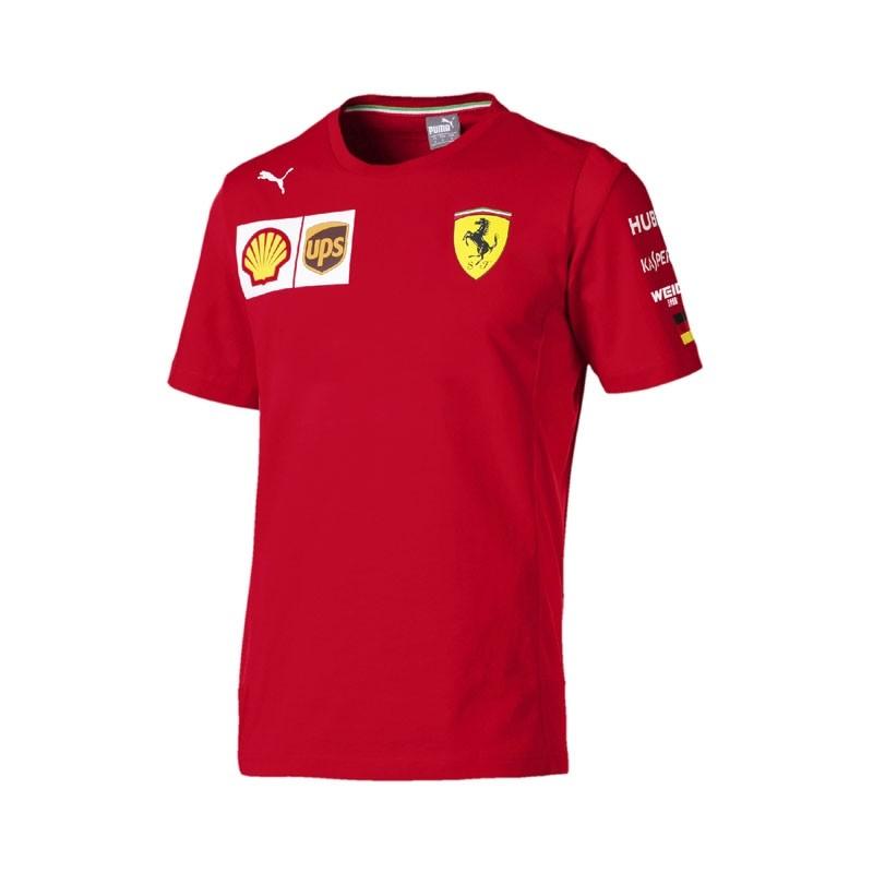 2019 Sebastian Vettel Official F1 Driver T-Shirt Mens Scuderia Ferrari Formula 1