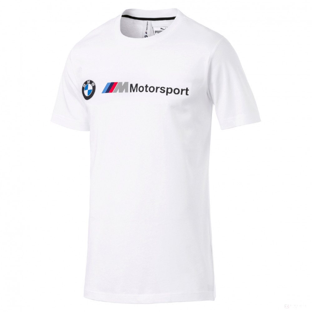Official BMW Motorsport Puma Mens Fan T-Shirt White Tee 100% Cotton
