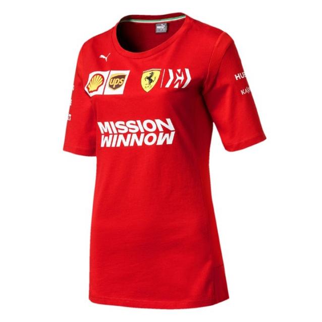 2019 Scuderia Ferrari F1 Team Womens Ladies T-Shirt Tee Red Sizes XXS-XL