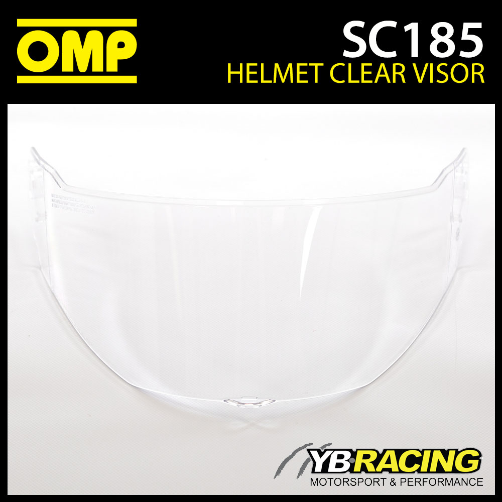 SC185 OMP Replacement Clear Visor fits SC613 OMP Circuit EVO Helmet Genuine Part