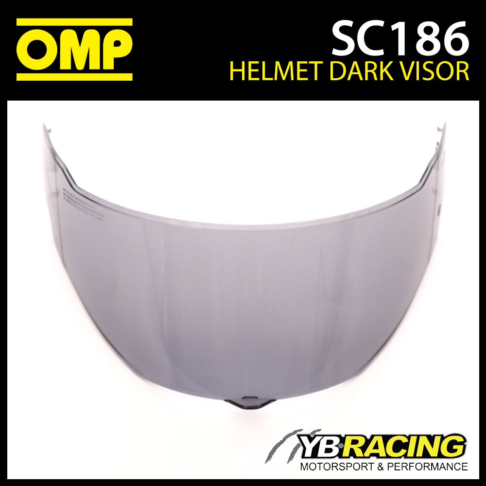 SC186 OMP Replacement Dark Visor fits SC613 OMP Circuit EVO Helmet Genuine Part