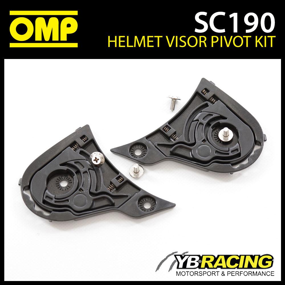 SC190 OMP Spare Visor Pivot Kit fits SC613 OMP Circuit EVO Helmet Genuine Part