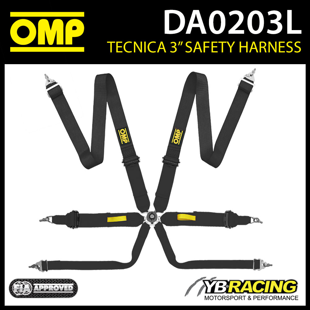 DA0203L OMP TECNICA 6-POINT SAFETY HARNESS RACE RALLY MOTORSPORT FIA APPROVED