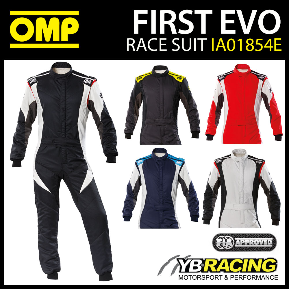 IA01854E OMP FIRST EVO RACE SUIT NEW 2020 MODEL FIREPROOF for MOTORSPORT RACING