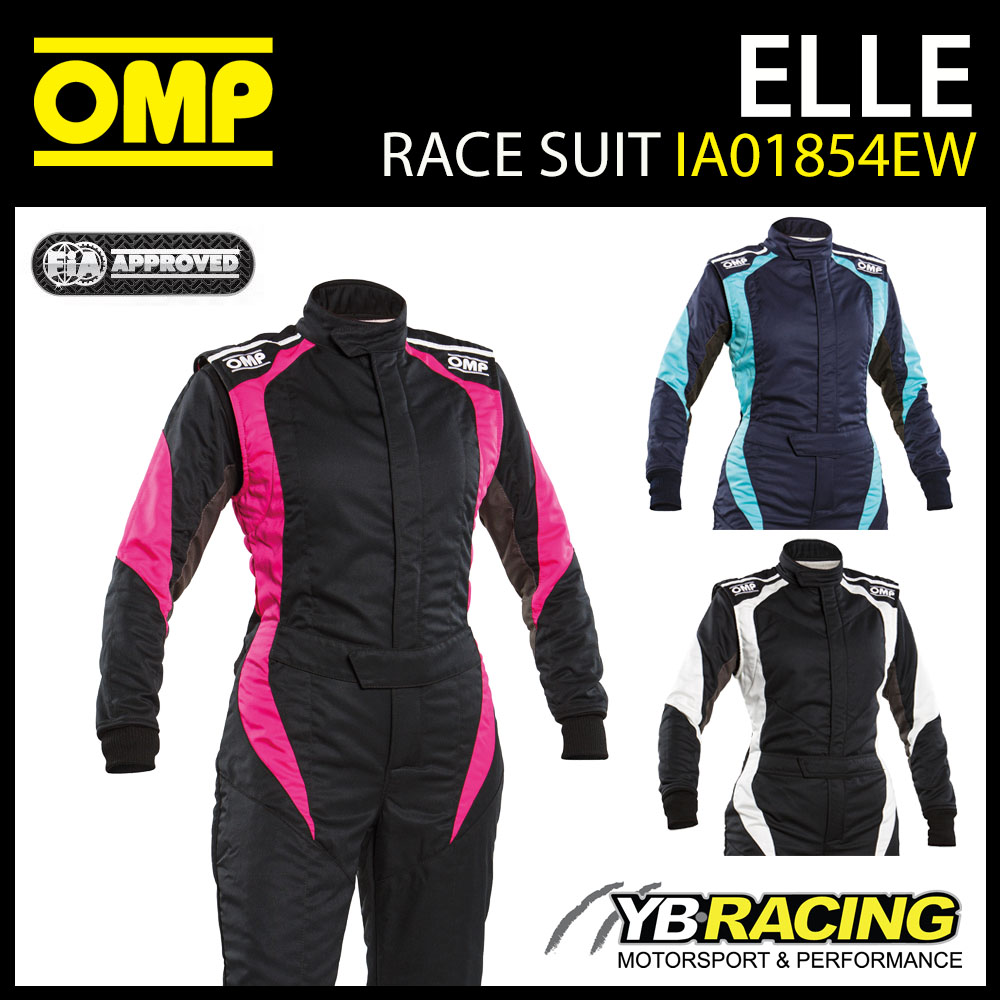 IA01854W OMP FIRST ELLE LADIES RACE SUIT WOMENS FEMALE SIZING FIA 8856-2018