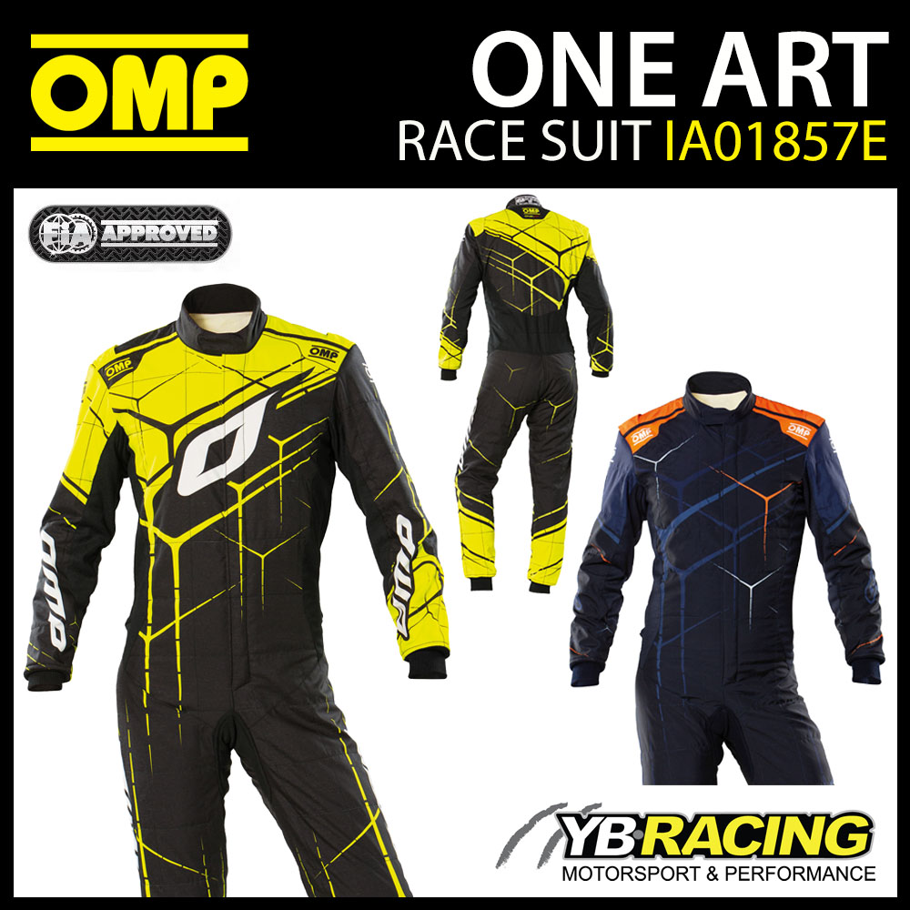 IA01857E OMP ONE ART RACE SUIT DIGITALLY PRINTED TOP SPEC 3D FIA 8856-2018