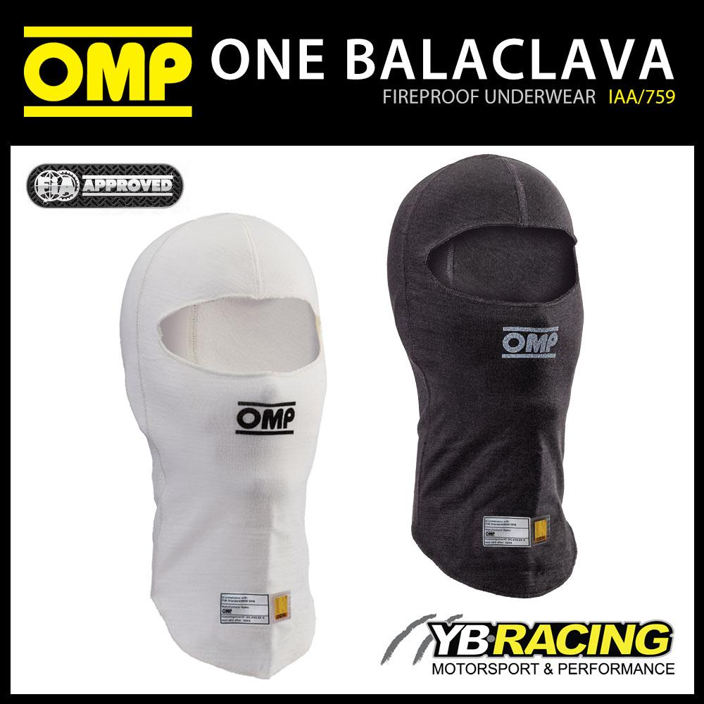 IAA/759 OMP RACING ONE BALACLAVA OPEN FACE FIREPROOF FIA 8856-2018 MOTORSPORT