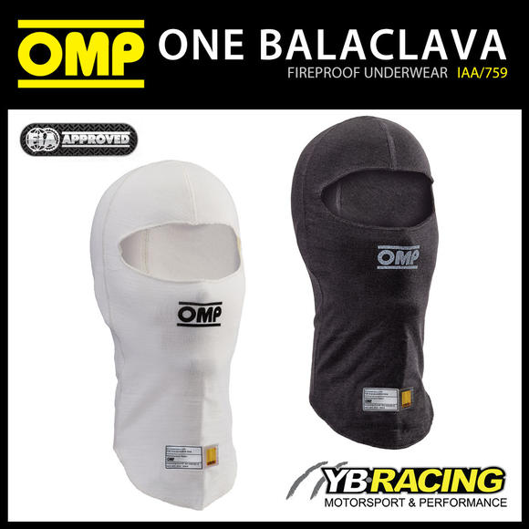 IAA/759 OMP RACING ONE BALACLAVA OPEN FACE FIREPROOF FIA 8856-2018 MOTORSPORT