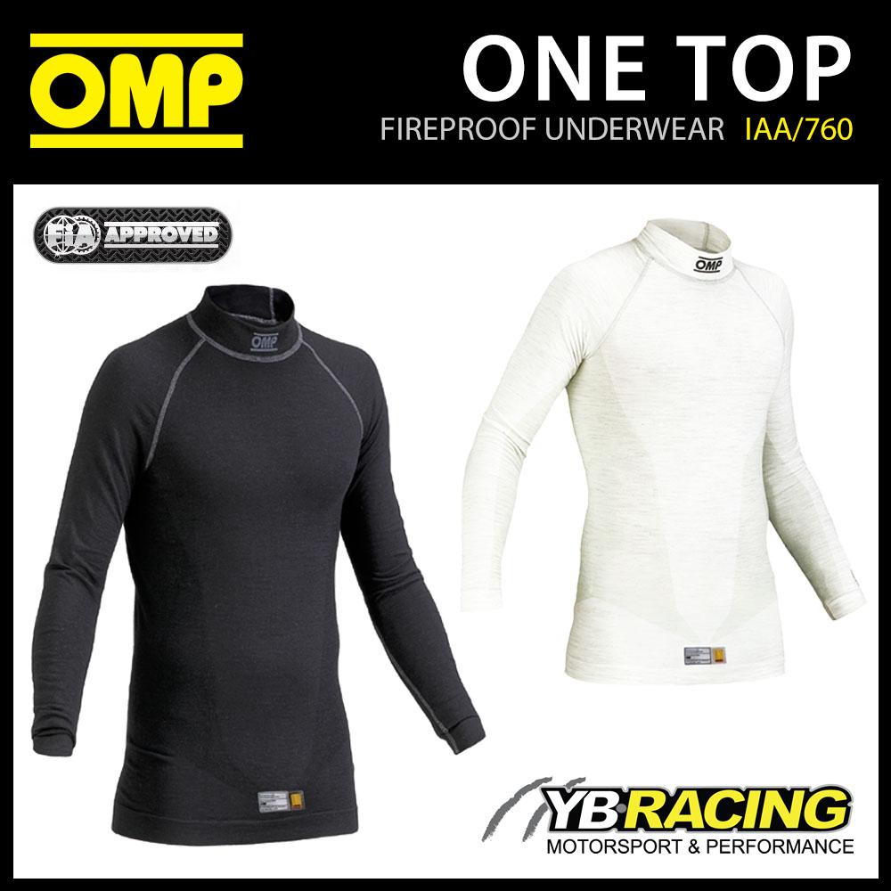 IAA/760 OMP RACING ONE FIREPROOF RACE UNDERWEAR LONG SLEEVE TOP FIA 8856-2018