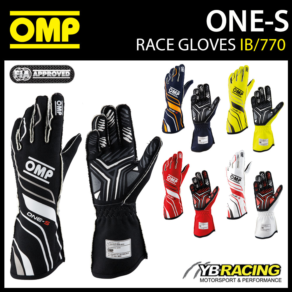 IB/770 OMP ONE-S GLOVES 2020 FIA 8856-2018