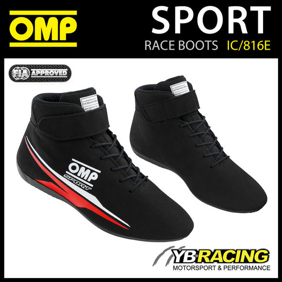 IC/816E OMP SPORT ENTRY LEVEL RACE RALLY BOOTS MOTORSPORT FIA 8856-2018 APPROVED