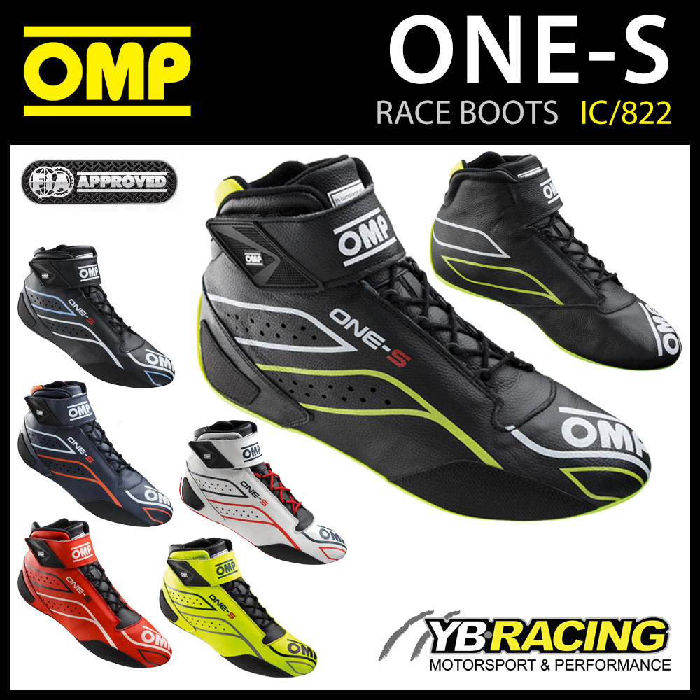 IC/822 OMP ONE-S PROFESSIONAL RACING BOOTS TOP SPEC MODERN DESIGN FIA 8856-2018