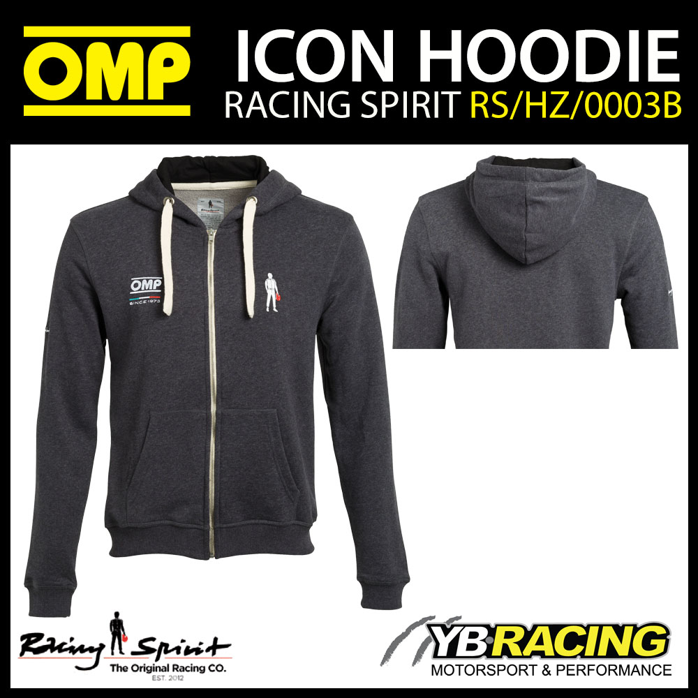 New! OMP Racing Spirit Icon Hoodie Hoody Zipped Jacket Casualwear Teamwear