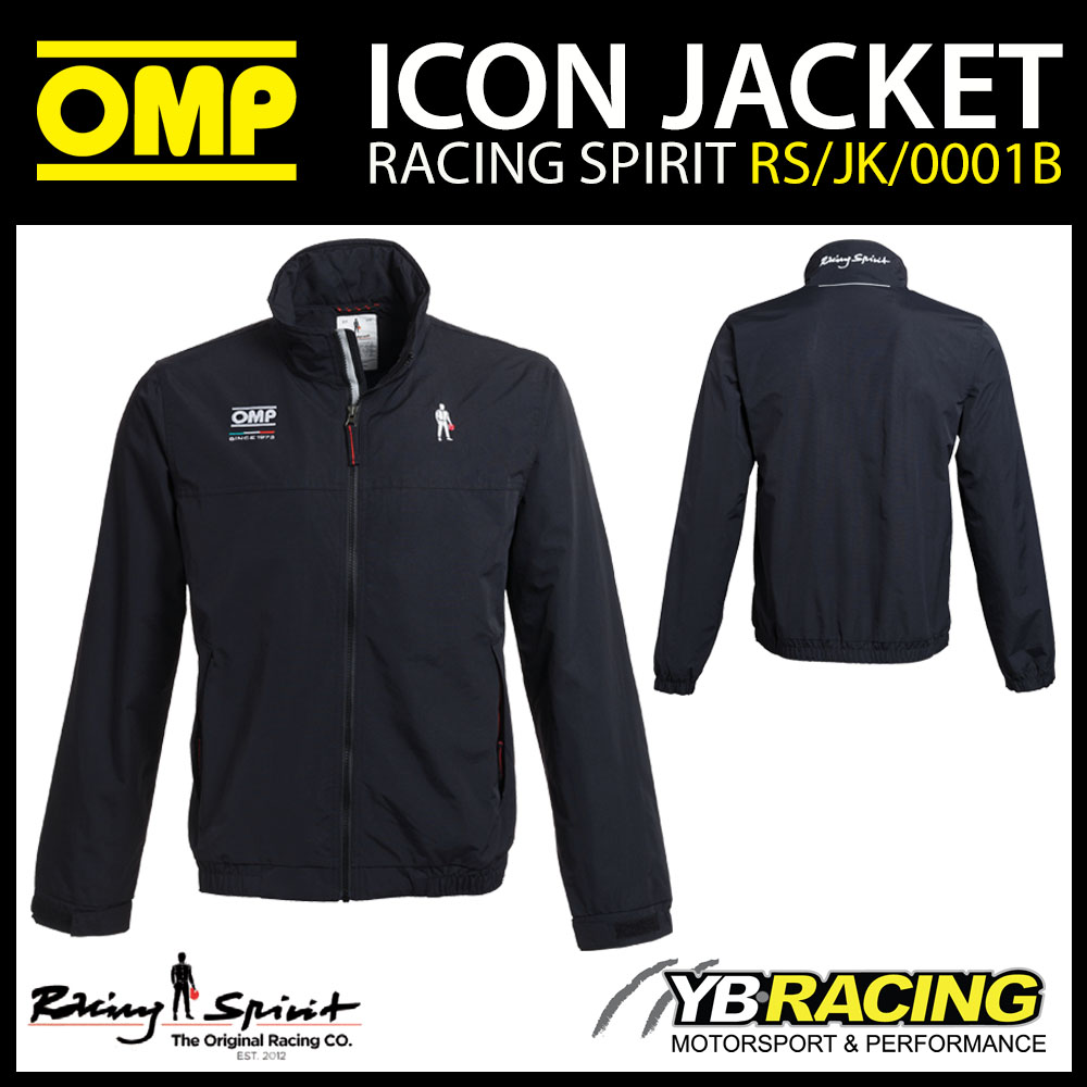 New! OMP Racing Spirit Icon Jacket Coat Lightweight Windproof & Rain Resistant