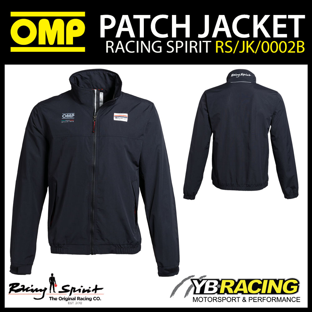 New! OMP Racing Spirit Patch Jacket Coat Casualwear Windproof & Rain Resistant