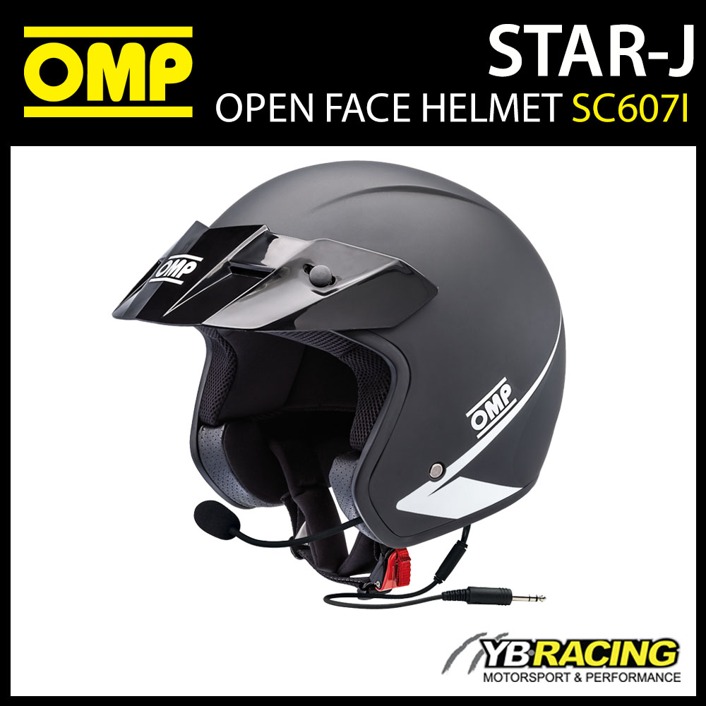 SC607I OMP STAR-J Open Face Helmet with Intercom Kit Race Rally Track Motorsport