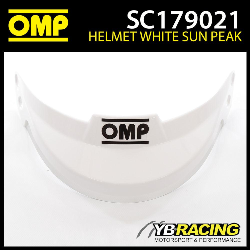 SC179 OMP White Sun Peak Visor fits OMP J-R Helmet SC795 SC796 SC797 SC798