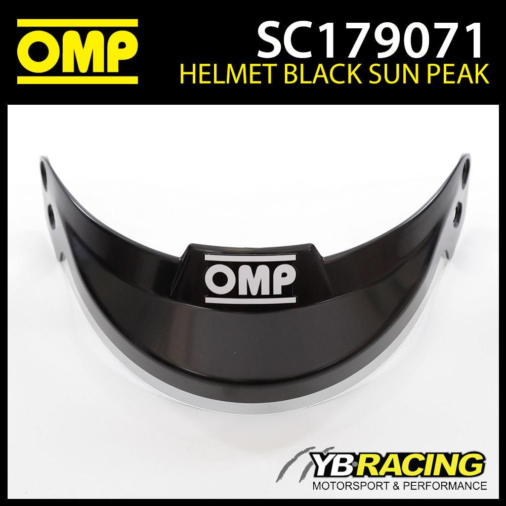 SC179 OMP Black Sun Peak Visor fits OMP J-R Helmet SC795 SC796 SC797 SC798