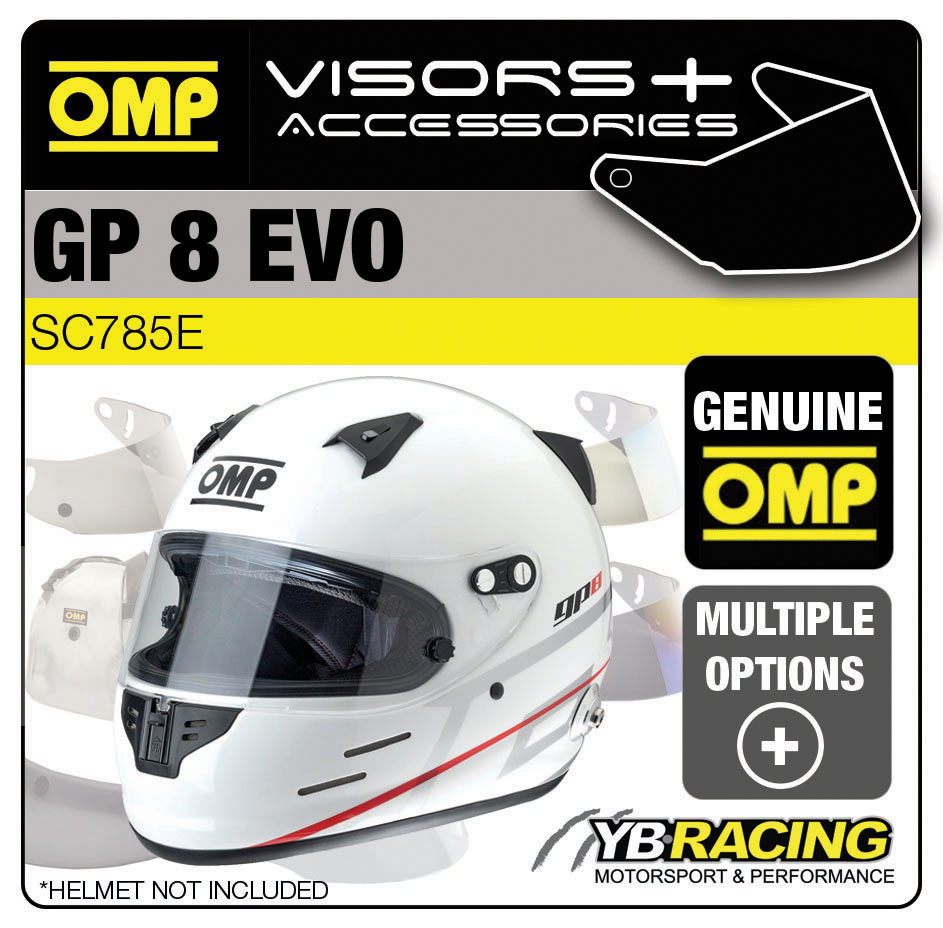 SC785E OMP GP8 EVO Helmet Optional Visors, Spare Parts & Genuine Accessories