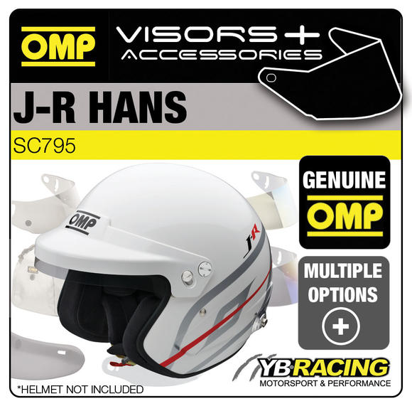 OMP J-R Helmet Optional Visors, Spare Parts & Accessories for SC795/796/797/798