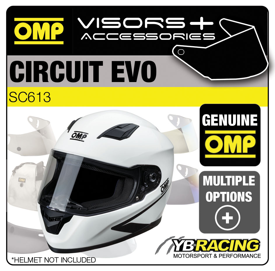 SC613 OMP Circuit EVO Helmet Optional Visors, Spare Parts & Genuine Accessories