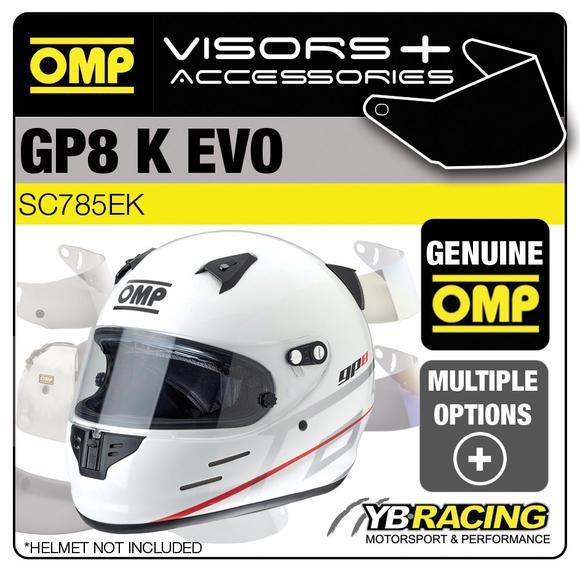 SC785E OMP GP8 EVO Helmet Optional Visors, Spare Parts & Genuine Accessories