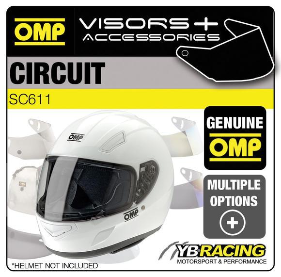 SC611E OMP Circuit Helmet Optional Visors, Spare Parts & Genuine Accessories