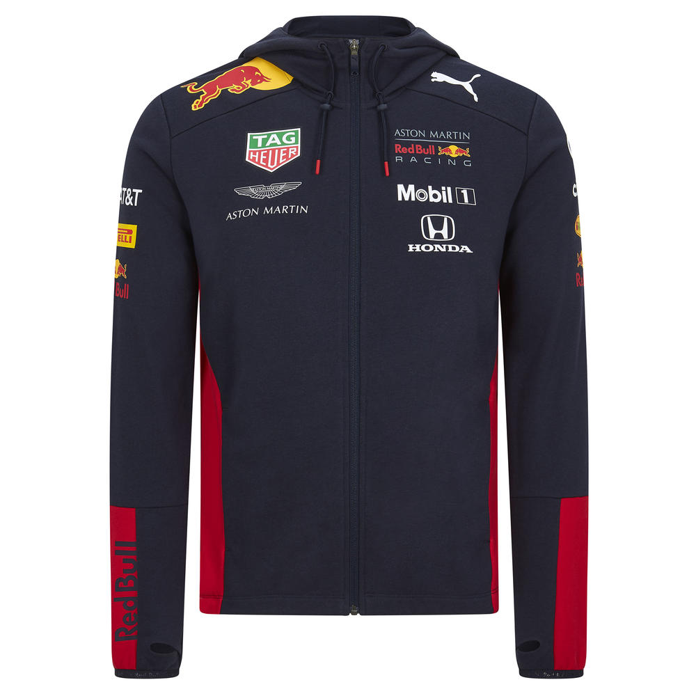 2020 Red Bull Racing F1 Team Mens Hooded Sweat Jacket Official Merchandise S-XXL