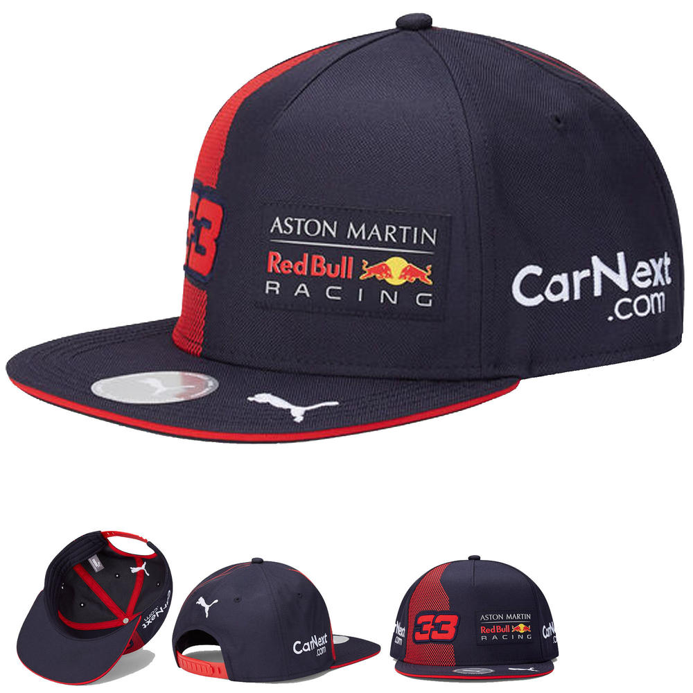 2020 Red Bull Racing F1 Team Flat Brim Cap Max Verstappen Merchandise Adult Size