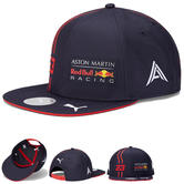 2020 Red Bull Racing F1 Team Flat Brim Cap Alex Albon Merchandise Childrens Size