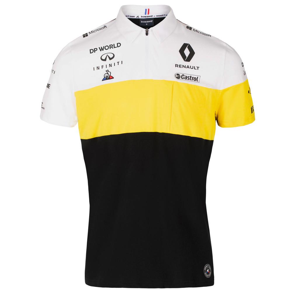 2020 Renault F1 Team Mens Polo Shirt Black Tee Official Merchandise S-XXL