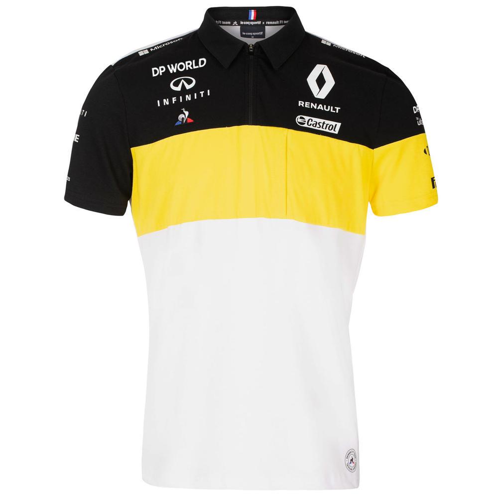 2020 Renault F1 Team Mens Polo Shirt White Tee Official Merchandise S-XXL