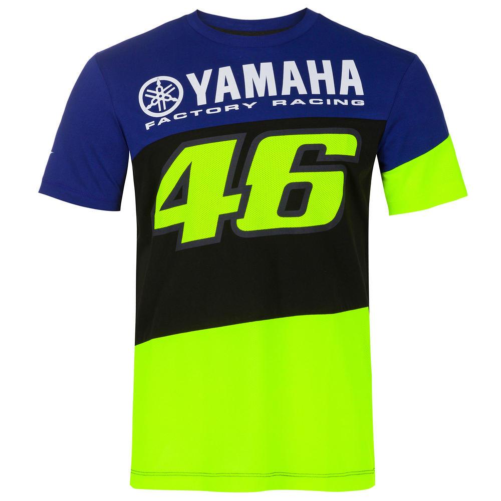 2020 Valentino Rossi Yamaha Racing Factory Mens T-Shirt Blue Tee Sizes S-XXL