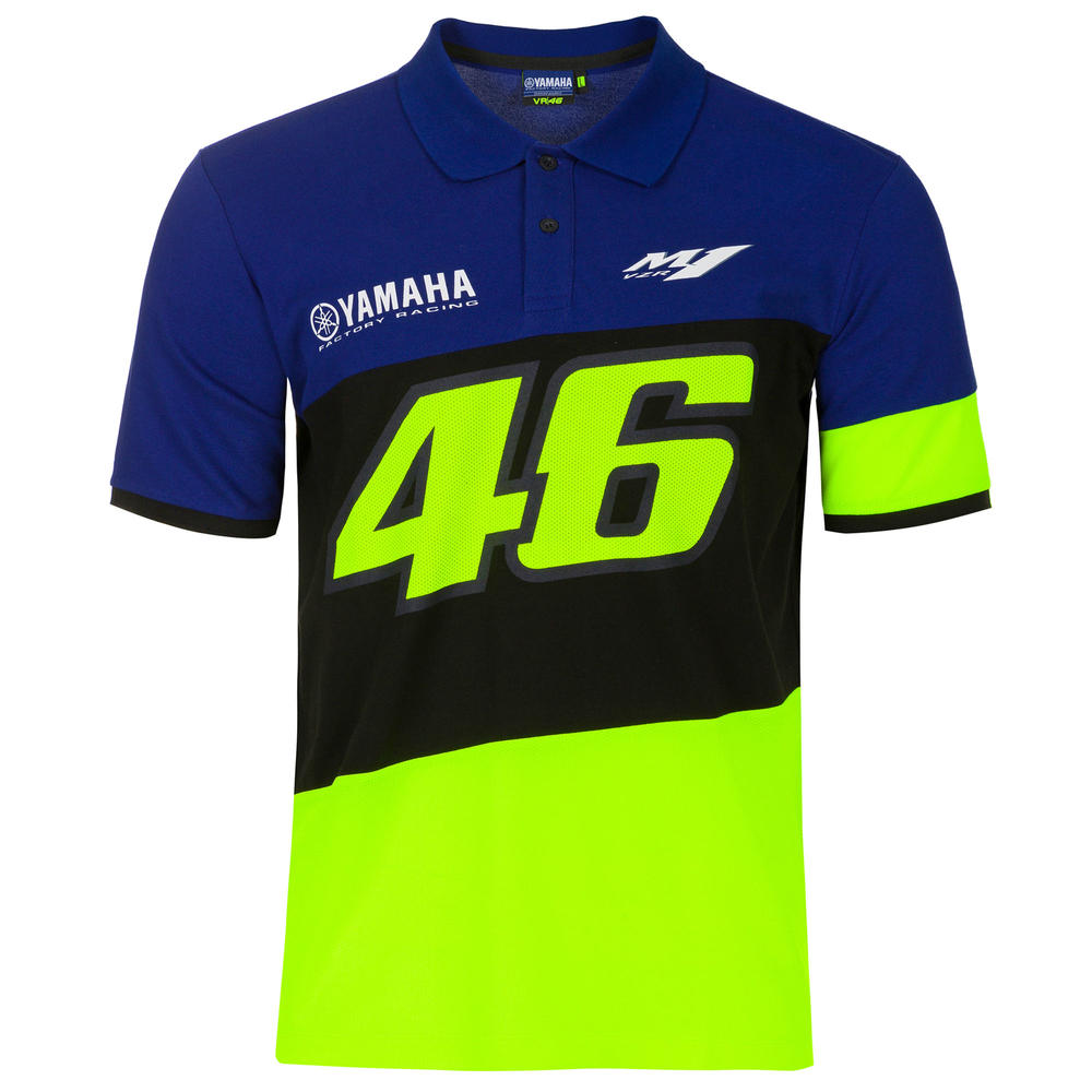 2020 Valentino Rossi Yamaha Racing Factory Mens Polo Shirt T-Shirt Sizes S-XXL
