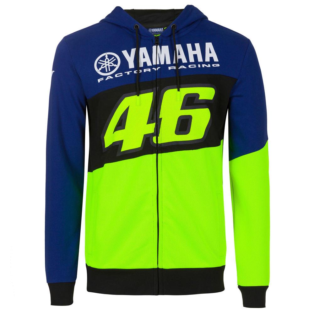 2020 Valentino Rossi Yamaha Racing Factory Mens Hoodie Full Zip Up Sizes S-XXL