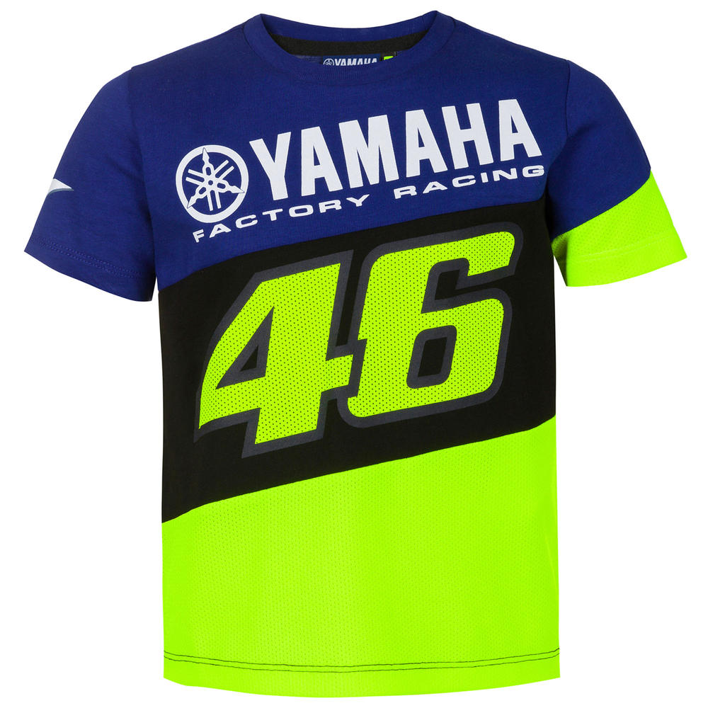 2020 Valentino Rossi Yamaha Racing Factory Kids Childrens T-Shirt Tee Ages 1-12