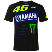 2020 Valentino Rossi Yamaha Racing Factory Mens T-Shirt Sponsors Tee Sizes S-XXL