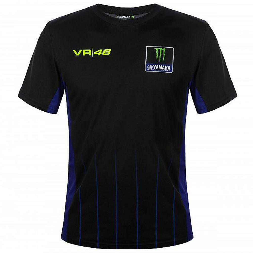 2020 Valentino Rossi Yamaha Racing Factory Mens T-Shirt Black Tee Sizes S-XXL