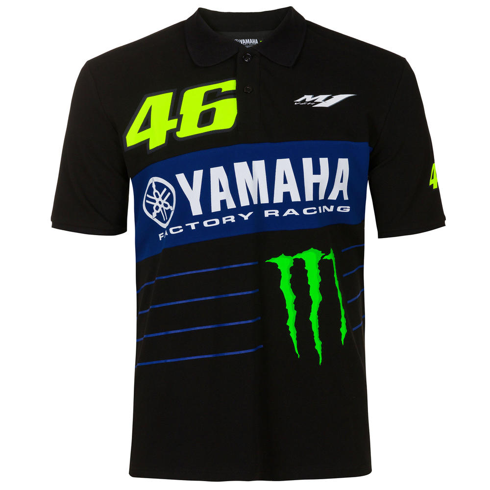 2020 Valentino Rossi Yamaha Racing Factory Mens Polo Shirt Sponsors Sizes S-XXL