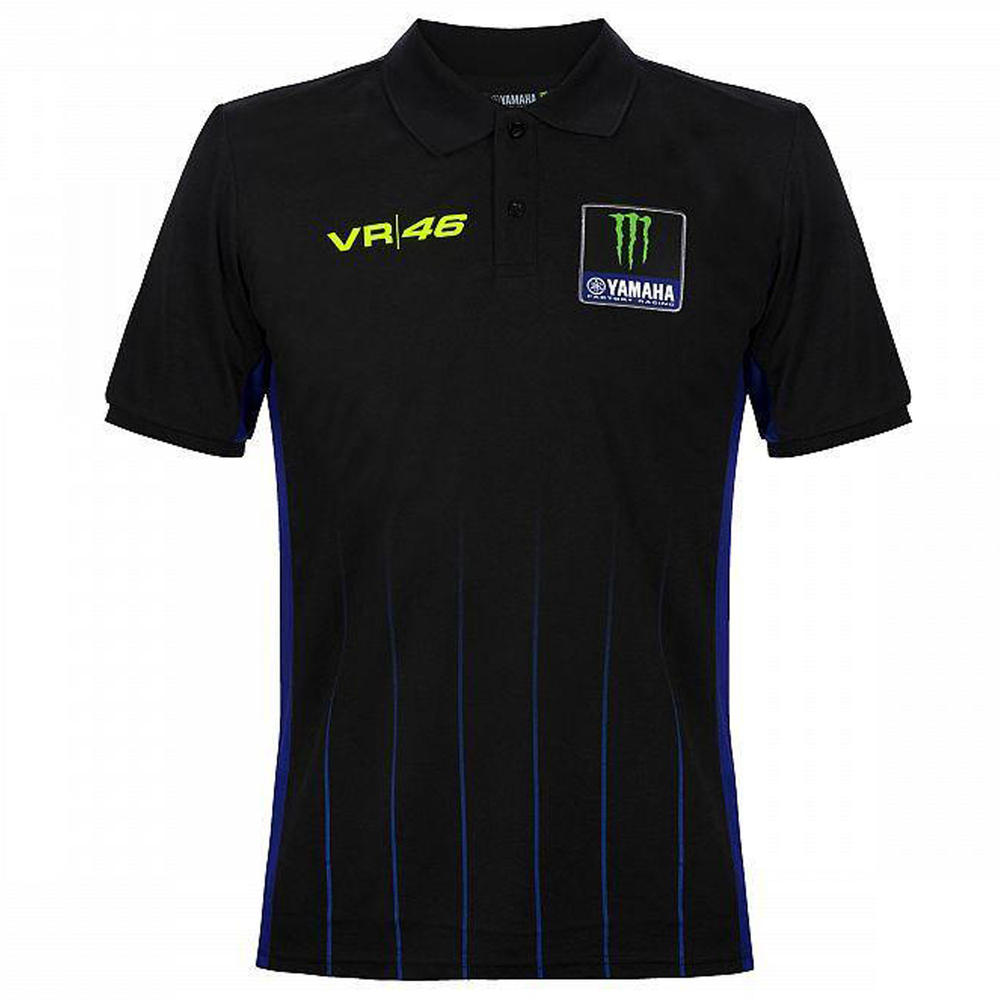 2020 Valentino Rossi Yamaha Racing Factory Mens Polo Shirt Black Tee Sizes S-XXL