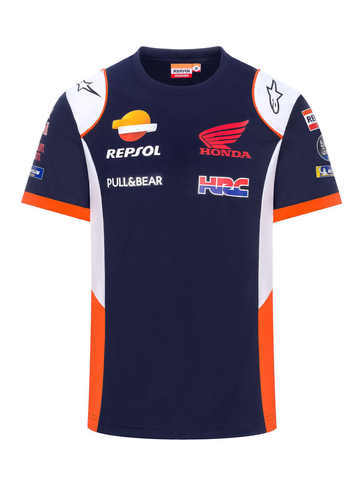 2020 Repsol Honda Team Mens Replica T-Shirt Blue MotoGP Merchandise Sizes S-XXL