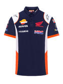 2020 Repsol Honda Team Mens Replica Polo Shirt Blue MotoGP Merchandise Sizes S-XXL