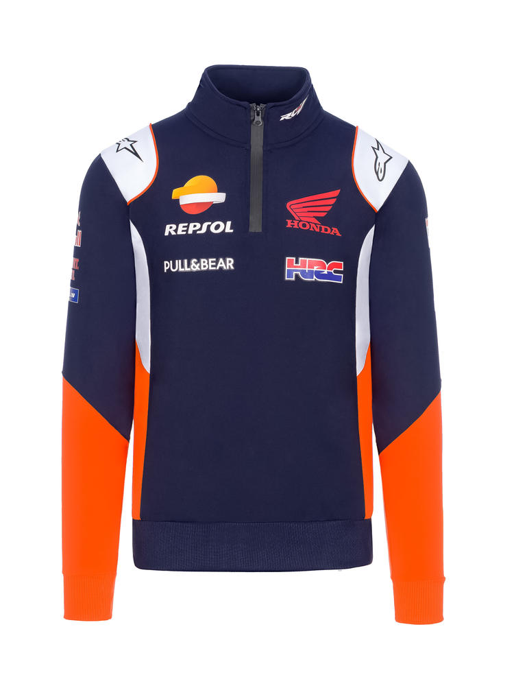 2020 Repsol Honda Team Mens Replica Sweatshirt Blue MotoGP Merchandise Sizes S-XXL